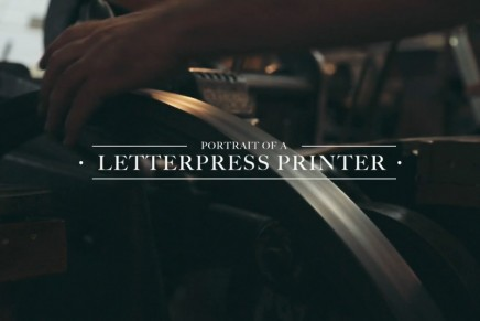 Portrait de William Amer, imprimeur letterpress