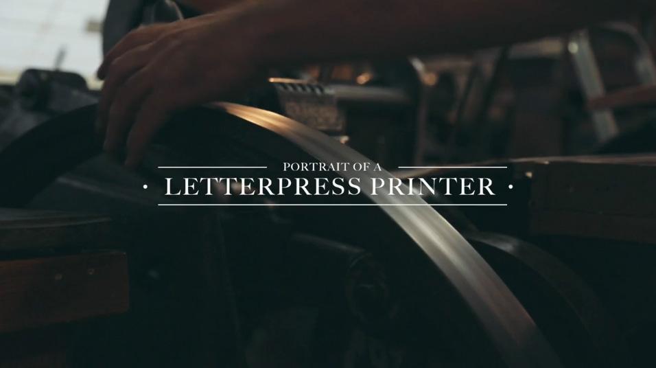 Portrait of a Letterpress Printer