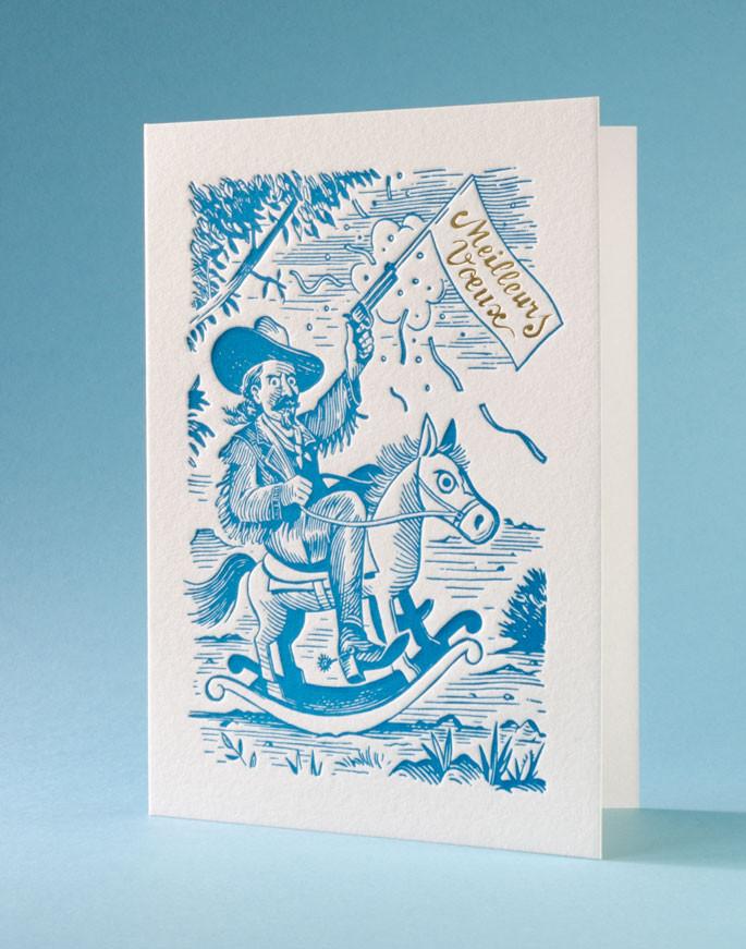 Letterpress de Paris Carte de voeux