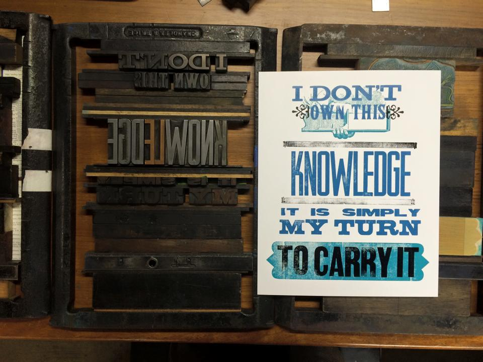 Pressing on Letterpress film