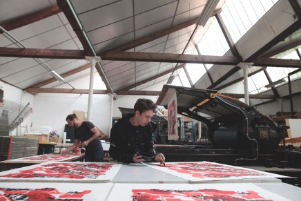 Making-of de l'impression lithographique de Lek & Sowat : Paper Trail