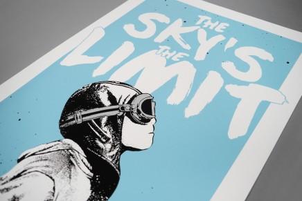 Les coulisses de l'impression sur affiche d'une oeuvre du street artist NME «The Sky's The Limit»