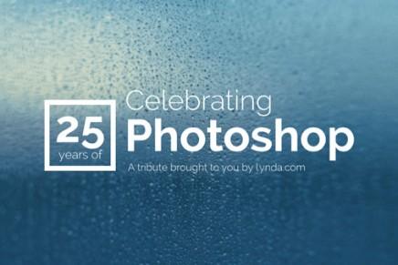 Lynda.com rend hommage au 25 ans de Photoshop