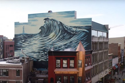 The Jersey Wave Mural, un nouveau making-of de la fresque de Shepard Fairey