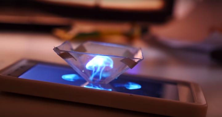 Créer un hologramme avec sons smartphone