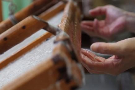 La fabrication du papier à la main Kyoto Kurotani