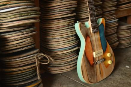 Prisma Guitars : des guitares fabriquées à base de skateboards