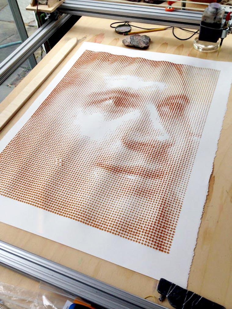 Imprimer avec du café