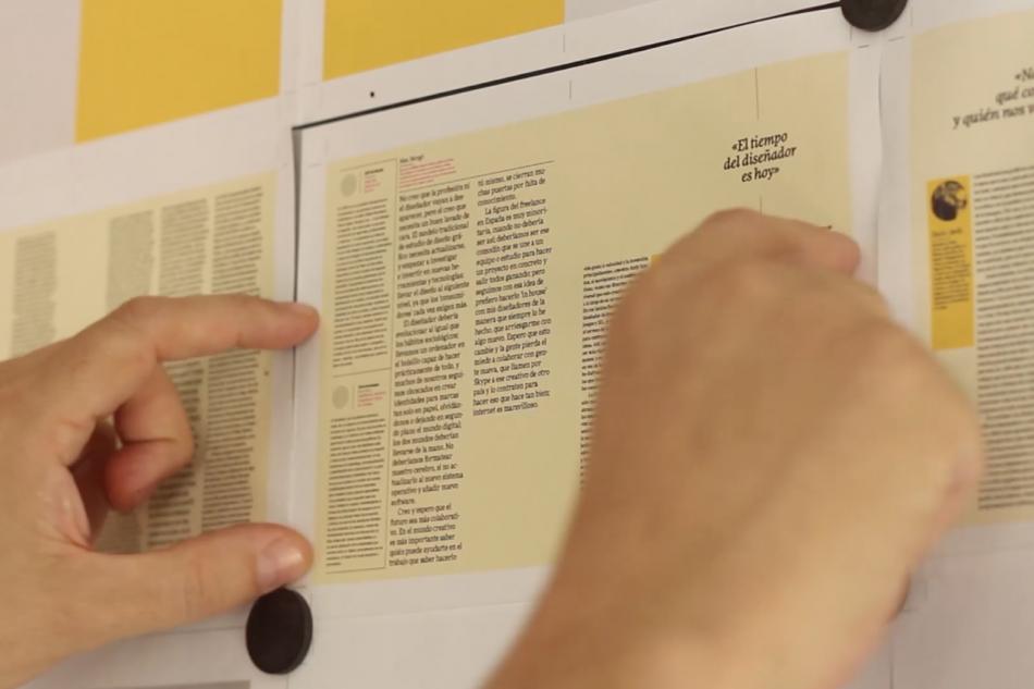 Le making-of de la conception et de l'impression du magazine Gràffica