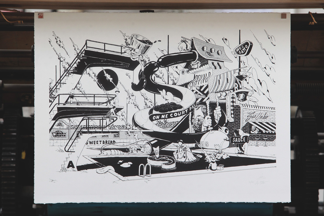 Ugo Gattoni McBess Sweetbread Lithography SoldArt