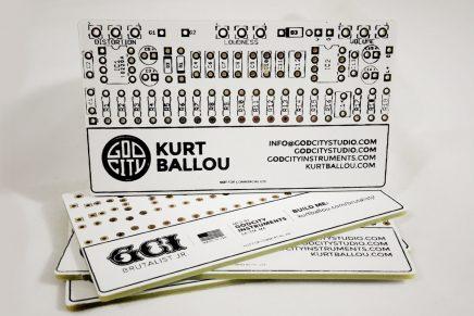 La carte de visite en circuit imprimé de Kurt Ballou