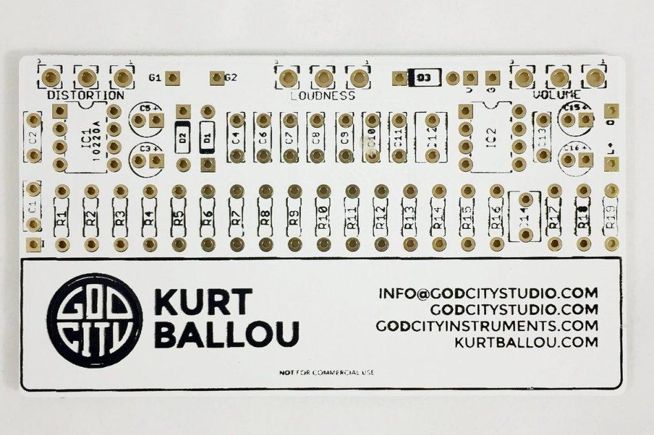 Kurt Ballou GodCity Studio carte de visite