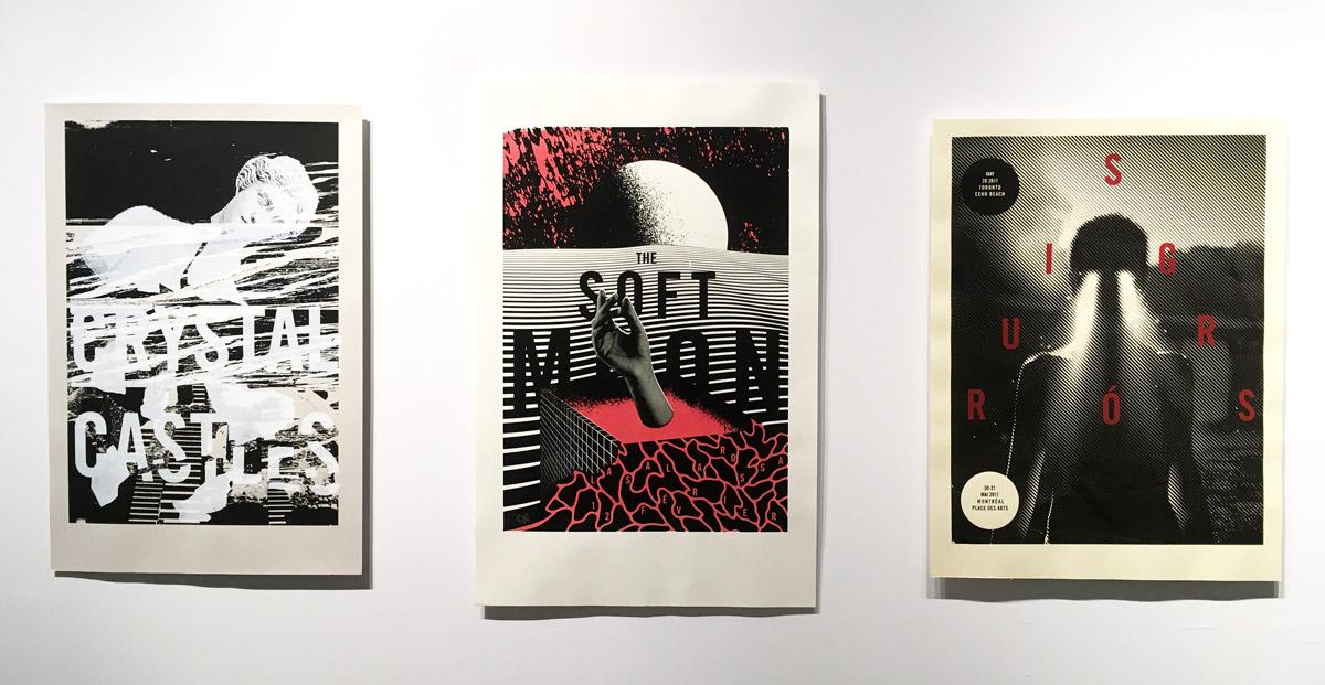 Non conforme UQAM Montreal Gig posters Sébastien Lépine